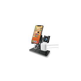 エレコム(ELECOM)[AW-DSCHIPAPBK] iPhone & Apple Watch & AirPods用スタンド/ブラック AWDSCHIPAPBK