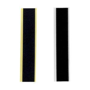 和気産業 BR040 強力面ファスナー バリバリテープ 粗面用 幅25mmX長さ150mm 黒