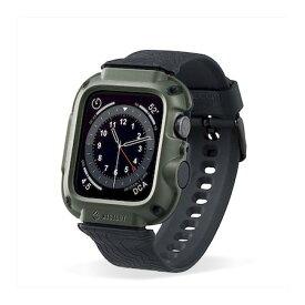 エレコム ELECOM AW-20MBCNESTKH アップルウォッチ Apple Watch バンドケース カバー SE 6 5 4 44mm 耐衝撃 ネストアウト カーキ AW20MBCNESTKH