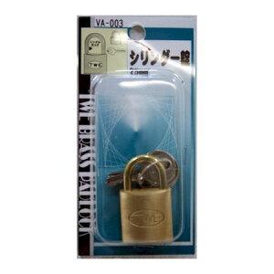 【ポイント2倍】和気産業 4903757510036 VA−003 シリンダー錠 25mm