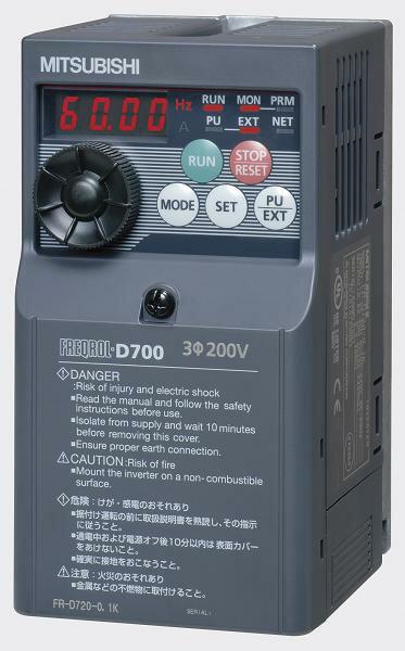 [FR-D720S-2.2K] 小形インバータ FREQROL-D700シリーズ 三菱電機 FRD720S2.2K