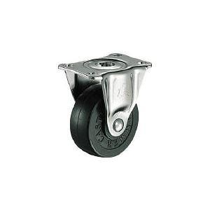 ハンマーキャスター 420RR38 G型 固定 ゴム車38mm 420RR38BAR0 125-2887【キャンセル不可】 420R-R38-BAR01 固定式ゴム車輪 420RR38BAR01