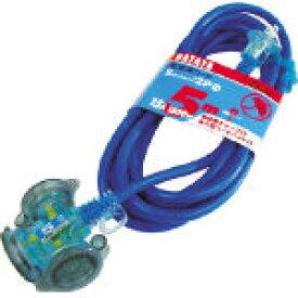 【あす楽対応】ハタヤ HATAYA FX-053-B 防雨型2P延長コード5m ブルー FX053B 370-3258