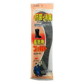木原産業 4971651203507 No310 抗菌・消臭 長靴用フェルト インソール グレー フリー