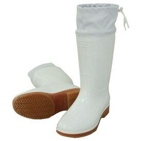 日進ゴム 4932807052578 ハイパーV#4200 フード付き衛生長靴 白 27.0