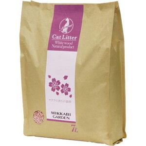 【お一人さま1点限り】ペティオ 4562483670034 アドメイト サクラの香りの猫砂 7L MG67003 三ヶ日ガーデン コーンスターチ 桜の香りの猫砂 ペット用品 ヤマヒサ 衛生用品