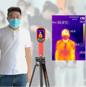 UNI-T社[UTi220K]サーモグラフィ高精度非接触温度計・非接触体温計 体温モニター 体温監視モニター ボディーサーモ CE認証取得 UTi220K(旧型UTi165K)日本語取扱説明書あり