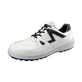 【ポイント2倍】シモン 8611 シロ/ブル-255 JIS安全靴 8611シロ/ブル255 ブルー 短靴 8611白 工業用品