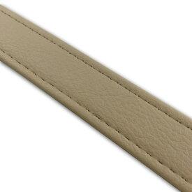 グロンドマン(GRONDEMENT)[T6225C330S0] 汎用レザーベルト【タンデムベルト】/カラー:ベージュ/ステッチ:透明/長さ:62cm/幅:2.5cm