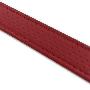 グロンドマン GRONDEMENT T6425C270S0 汎用レザーベルト【タンデムベルト】/カラー:エンボスレッド/ステッチ:透明/長さ:64cm/幅:2.5cm
