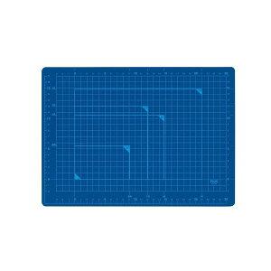 【ポイント2倍】プラス 4977564478506 カッターマット A4 BL CS−A4 青 カッティングマット ブルー PLUS 48-571 カッティングマットA4BLCS-A4