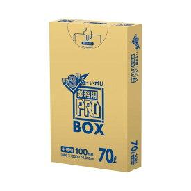 4902393627177 日本サニパック 3層ゴミ袋業務用PRO 70L 半透明 PA73 100枚
