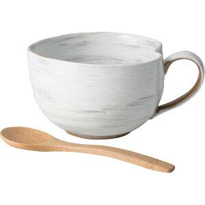 西海陶器 42653 粉引 納豆鉢 さじ付