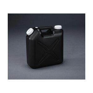 エスコ EA508AT-310 10L ポリタンク 黒 ポリエチレン製/ノズル無 EA508AT310
