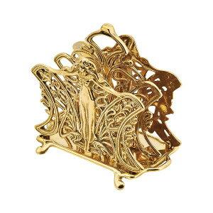 ゴーリキアイランド 660982 真鍮製カード立て 金色 マドンナ型 真鍮 カードホルダー アンティーク ブレス