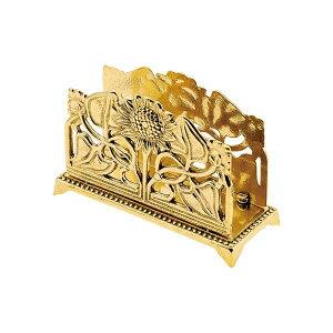 ゴーリキアイランド 660983 真鍮製カード立て 金色 サンフラワー型 真鍮 カードホルダー アンティーク ブレス