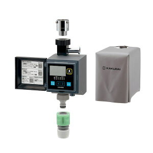 カクダイ 4972353814558 ガオナ 潅水コンピューター 自動散水タイマー 凍結防止機能つき 雨センサーつき GA-QE006