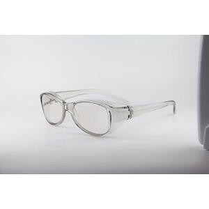K12379-3 メガネ型拡大鏡 ファインミニ ブルー光線カットグレー 1.8倍 K123793
