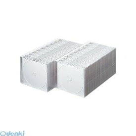【ポイント2倍】サンワサプライ FCD-PU100MW DVD・CDケース マットホワイト FCDPU100MW DVDケース SUPPLY SANWA パソコン周辺機器 100枚パック