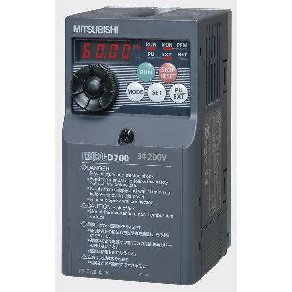 三菱電機(MITSUBISHI) [FR-D720-2.2K] 小形インバータ FREQROL-D700シリーズ FRD7202.2K
