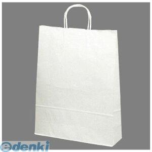 【ポイント2倍】ササガワ タカ印 50-5400 手提げバッグ 白無地 特大 505400 50枚袋入り ギフト ペーパーバッグ アクセサリー 買い物バッグ プレゼント ラッピング 手提げ袋