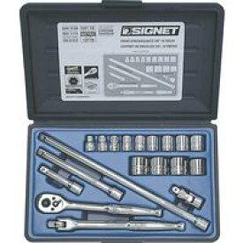 シグネット 工具 SIGNET 12719 #812913B 3/8DR 19PC mm ソケットレンチセット 12719