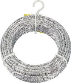 トラスコ中山 TRUSCO CWM5S100 メッキ付ワイヤロープ Φ5mmX100m