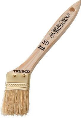 【あす楽対応】トラスコ中山(TRUSCO) [TPB542] 多用途刷毛 豚毛 30mm