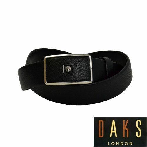 【あす楽対応】DAKS ダックス メンズ ブラックレザーバックル式ベルト【袋縫無双仕立】DB35710 3-90 ベルト