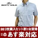 【BODY WILD】ボディワイルド 半そで 【メンズ】ワイシャツ【メンズ】【ビジネス】あす楽対応 形態安定加工 半袖 ワイシャツ 【3枚以上購入で送料無料】【着後レビューで次回5%オフクーポンプレゼ