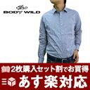 BODY WILD ボディワイルド 選べる!スリムワイシャツ【2枚で4,900円】Yシャツ 長そで【メンズ】【ビジネス】【着後…