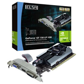 ELSA グラフィックボード GEFORCE GT 730 LP 1GB GD730-1GERL [GD7301GERL]【SDSP】