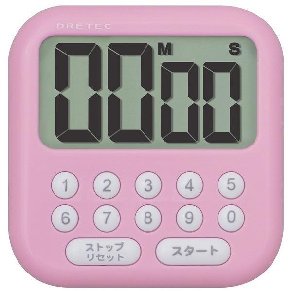 ドリテック デジタルタイマー 「シャボン10」 ピンク T-544PK [T544PK]