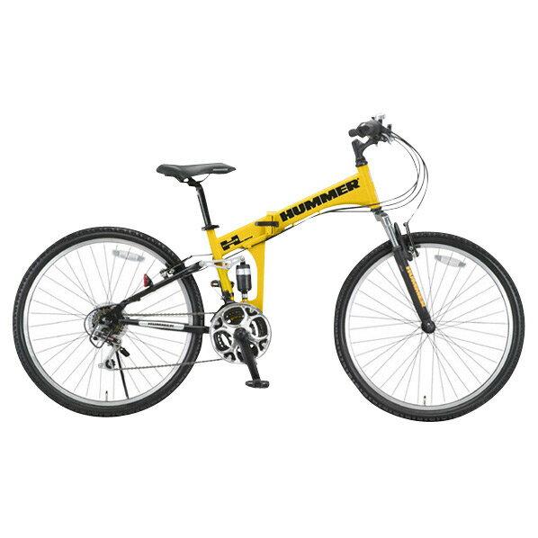 【送料無料】OTOMO 26インチ折りたたみ自転車 HUMMER イエロー HUMMERFDB268WSUSイエロ- [HUMMERFDB268WSUSイエロ-]【DZI】