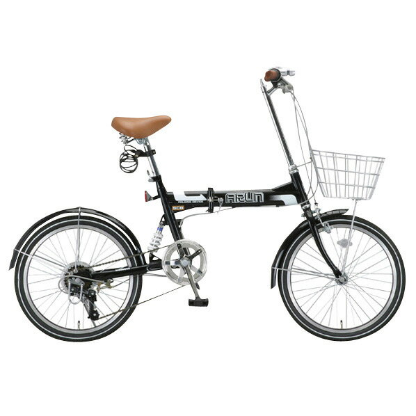 【送料無料】OTOMO 20インチ折りたたみ自転車 ARUN ブラック MSB206ASブラツク [MSB206ASブラツク]【DZI】