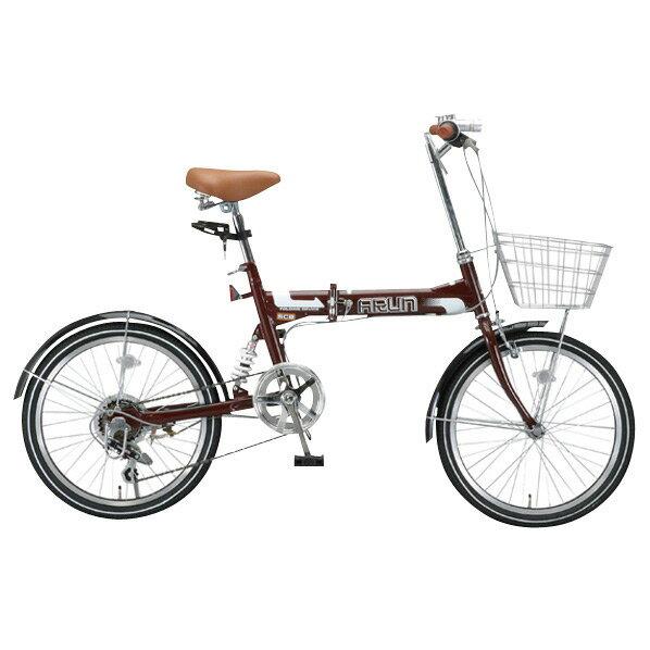 【送料無料】OTOMO 20インチ折りたたみ自転車 ARUN ブラウン MSB206ASブラウン [MSB206ASブラウン]【DZI】