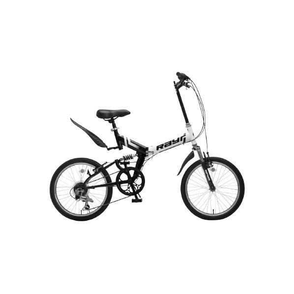 【送料無料】OTOMO 20インチ折りたたみ自転車 Raychell ホワイト/ブラック MFWS-206RRホワイト-ブラツク [MFWS206RRホワイト-ブラツク]【DZI】