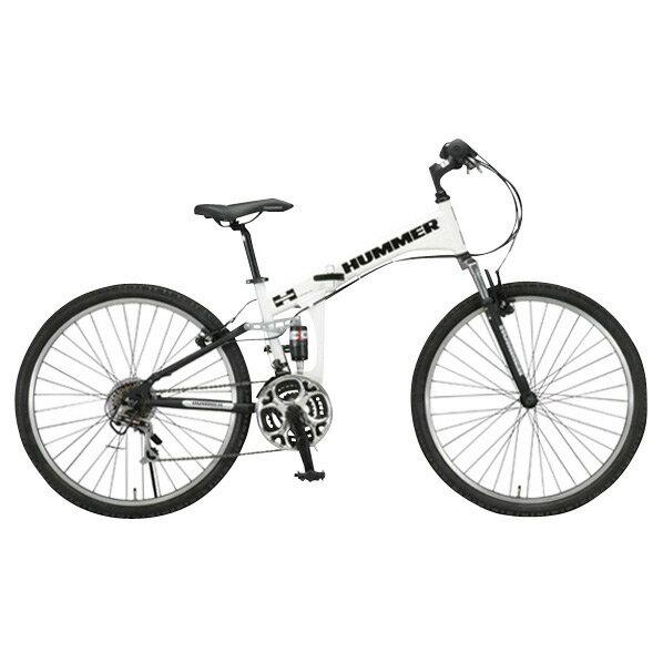 【送料無料】OTOMO 26インチ折りたたみ自転車 HUMMER ホワイト HUMMERFDB268WSUSホワイト [HUMMERFDB268WSUSホワイト]【DZI】