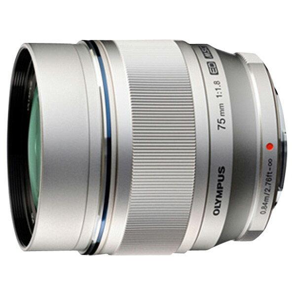 【送料無料】オリンパス 単焦点望遠レンズ M.ZUIKO DIGITAL ED 75mm F1.8 シルバー MZUIKOED75MMF1.8 [MZUIKOED75MMF18]