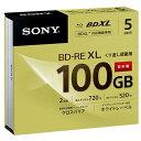 SONY 録画用100GB 3層 2倍速 BD-RE XL書換え型 ブルーレイディスク 5枚入り 5BNE3VCPS2 [5BNE3VCPS2]