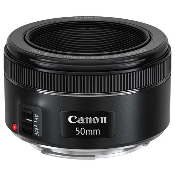 【送料無料】キヤノン 単焦点レンズ EF50mm F1.8 STM ブラック EF5018STM [EF5018STM]