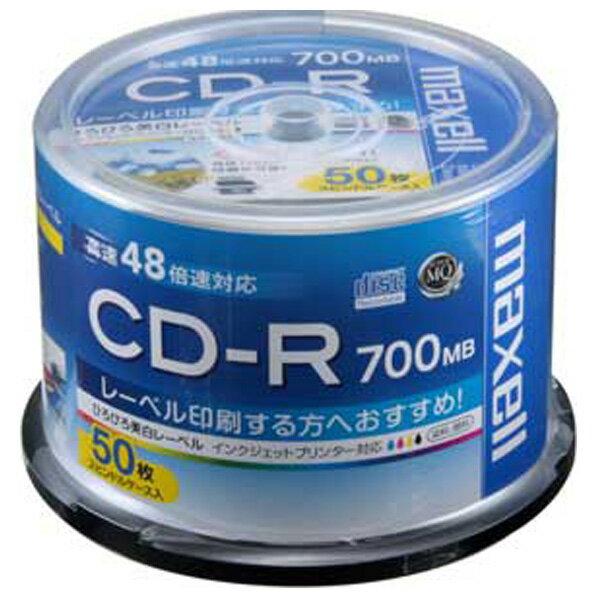 マクセル 48倍速対応 CD-R 700MB 50枚入 データ用 CDR700S.WP.50SP [CDR700SWP50SP]
