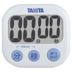 タニタ キッチンタイマー でか見えタイマー ホワイト TD384WH [TD384WH]【MMPT】