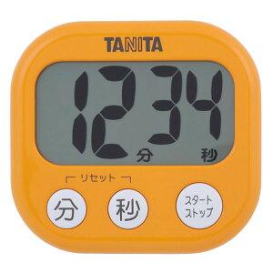 タニタ キッチンタイマー でか見えタイマー アプリコットオレンジ TD384/OR [TD384OR]【MMPT】