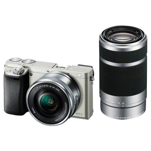 【送料無料】SONY デジタル一眼カメラ・ダブルズームレンズキット α6000 シルバー ILCE-6000Y S [ILCE6000YS]【RNH】