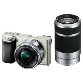 SONY デジタル一眼カメラ・ダブルズームレンズキット α6000 シルバー ILCE-6000Y S [ILCE6000YS]【RNH】