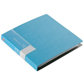 BUFFALO CD・DVDケース(12枚収納) ブルー BSCD01F12BL [BSCD01F12BL]