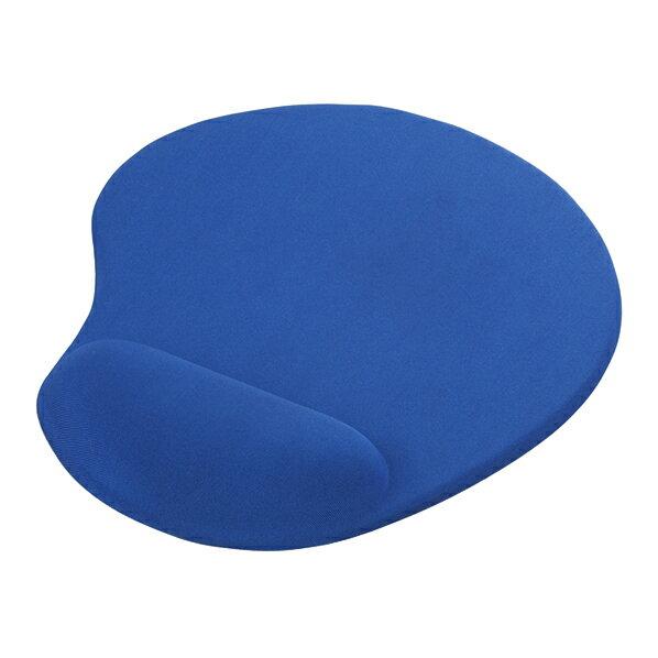 BUFFALO リストレスト一体型マウスパッド(低反発タイプ) ブルー BSPD11BL [BSPD11BL]