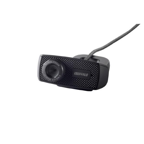 BUFFALO マイク内蔵120万画素Webカメラ HD720p対応モデル ブラック BSWHD06MBK [BSWHD06MBK]