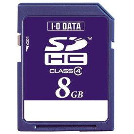 I/Oデータ SDHCメモリカード(Class4対応・8GB) BSD-8G4A [BSD8G4A]